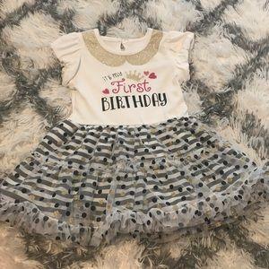 EUC Glitter Accent 1st birthday tutu dress 💞👗